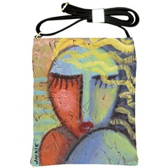 Colorful Abstract Art Shoulder Sling Bag by paintedpurses