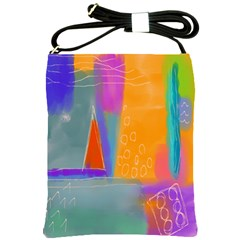 Wild And Colorful Abstract Art Shoulder Sling Bag
