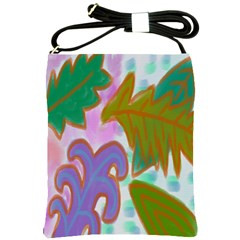 Leaves Abstract Art Shoulder Sling Bag by paintedpurses