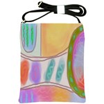 Original Abstract Art Shoulder Sling Bag Front
