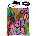 Funky Flowers Abstract Art Shoulder Sling Bag Front