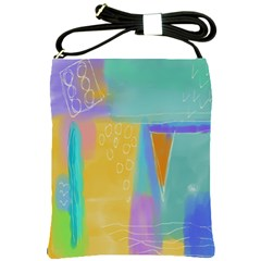 Original Abstract Painting  Shoulder Sling Bag by paintedpurses
