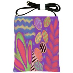 Funky Flowers Abstract Art Shoulder Sling Bag