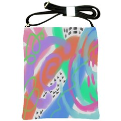 Funky Abstract Art Shoulder Sling Bag by paintedpurses