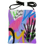 Funky Abstract Art Shoulder Sling Bag Front