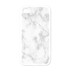Marble Apple Iphone 4 Case (white) by DannyM