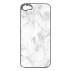Marble Apple Iphone 5 Case (silver) by DannyM
