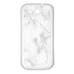 Marble Samsung Galaxy S3 Back Case (white)