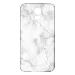 Marble Samsung Galaxy S5 Back Case (white) by DannyM