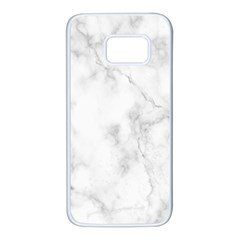 Marble Samsung Galaxy S7 White Seamless Case by DannyM