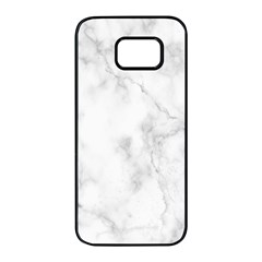 Marble Samsung Galaxy S7 Edge Black Seamless Case by DannyM