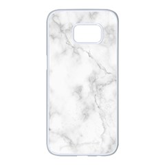 Marble Samsung Galaxy S7 Edge White Seamless Case by DannyM