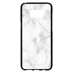 Marble Samsung Galaxy S8 Plus Black Seamless Case by DannyM