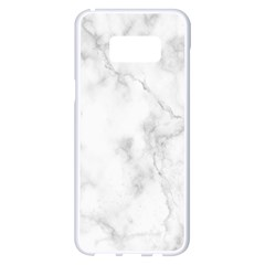 Marble Samsung Galaxy S8 Plus White Seamless Case by DannyM