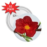 Deep Plumb Blossom 2.25  Buttons (10 pack)  Front
