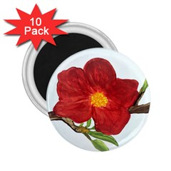 Deep Plumb Blossom 2 25  Magnets (10 Pack)