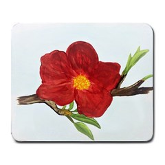 Deep Plumb Blossom Large Mousepads by lwdstudio