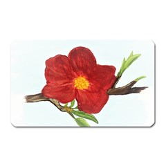 Deep Plumb Blossom Magnet (rectangular) by lwdstudio