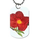 Deep Plumb Blossom Dog Tag (One Side) Front