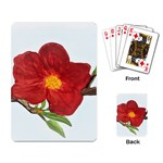 Deep Plumb Blossom Playing Cards Single Design Back