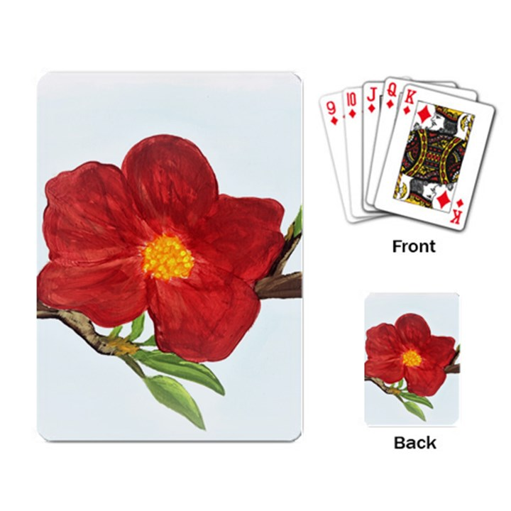 Deep Plumb Blossom Playing Cards Single Design