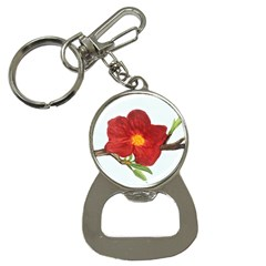 Deep Plumb Blossom Bottle Opener Key Chains by lwdstudio