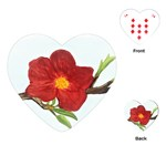 Deep Plumb Blossom Playing Cards (Heart) Front