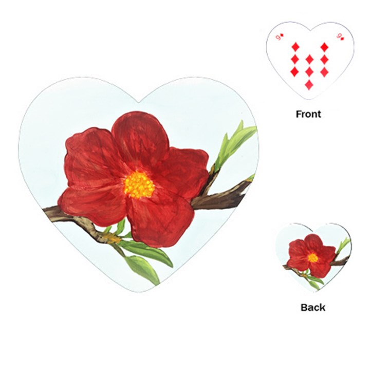 Deep Plumb Blossom Playing Cards (Heart)