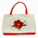 Deep Plumb Blossom Classic Tote Bag (Red) Front