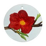 Deep Plumb Blossom Round Ornament (Two Sides) Front