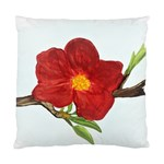 Deep Plumb Blossom Standard Cushion Case (One Side) Front