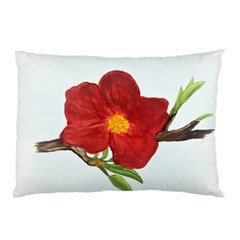 Deep Plumb Blossom Pillow Case by lwdstudio