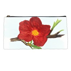 Deep Plumb Blossom Pencil Cases
