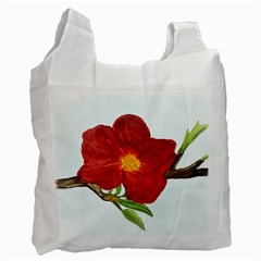 Deep Plumb Blossom Recycle Bag (one Side)