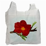 Deep Plumb Blossom Recycle Bag (One Side) Front