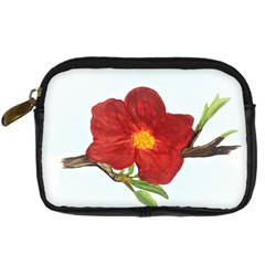 Deep Plumb Blossom Digital Camera Leather Case