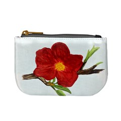 Deep Plumb Blossom Mini Coin Purse by lwdstudio