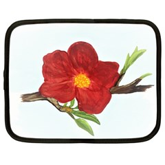 Deep Plumb Blossom Netbook Case (xl)