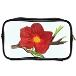 Deep Plumb Blossom Toiletries Bag (One Side) Front