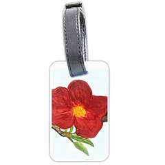 Deep Plumb Blossom Luggage Tags (two Sides)