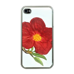 Deep Plumb Blossom Apple Iphone 4 Case (clear)