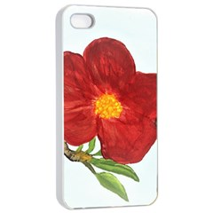 Deep Plumb Blossom Apple Iphone 4/4s Seamless Case (white) by lwdstudio