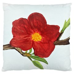 Deep Plumb Blossom Large Cushion Case (one Side) by lwdstudio