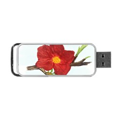 Deep Plumb Blossom Portable Usb Flash (one Side) by lwdstudio