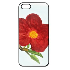 Deep Plumb Blossom Apple Iphone 5 Seamless Case (black) by lwdstudio