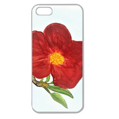 Deep Plumb Blossom Apple Seamless Iphone 5 Case (clear) by lwdstudio