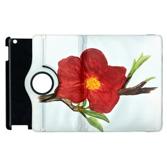 Deep Plumb Blossom Apple Ipad 3/4 Flip 360 Case