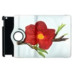 Deep Plumb Blossom Apple iPad 3/4 Flip 360 Case Front