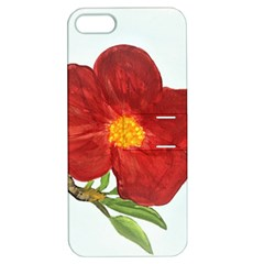 Deep Plumb Blossom Apple Iphone 5 Hardshell Case With Stand