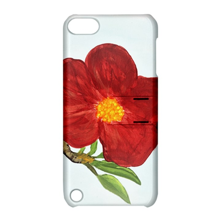 Deep Plumb Blossom Apple iPod Touch 5 Hardshell Case with Stand